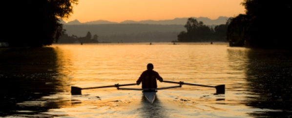 Rower on own